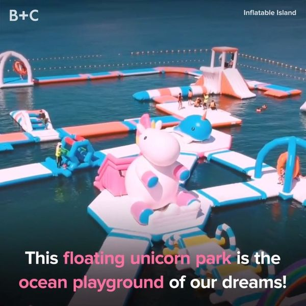 This Floating Unicorn Park Is the Ocean Playground of Our Dreams