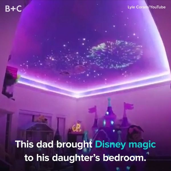 This Dad Brought Disney Magic to His Daughter's Bedroom