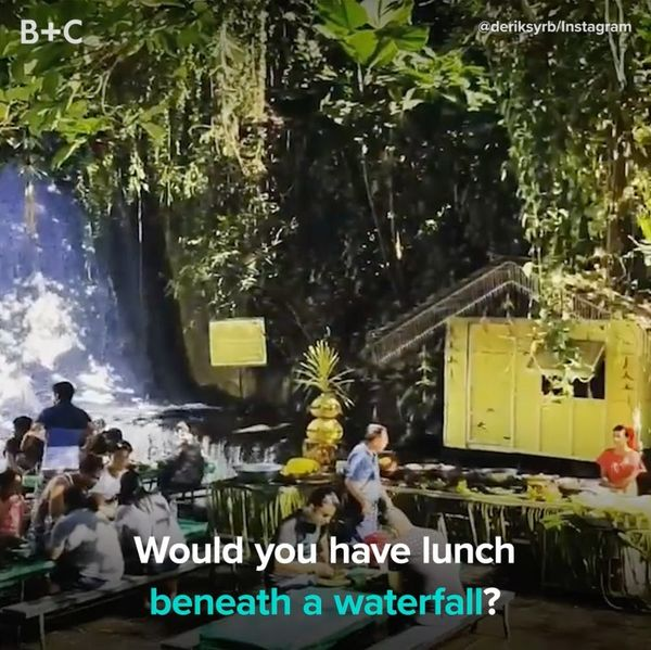 This Waterfall Restaurant Is the Definition of Wanderlust