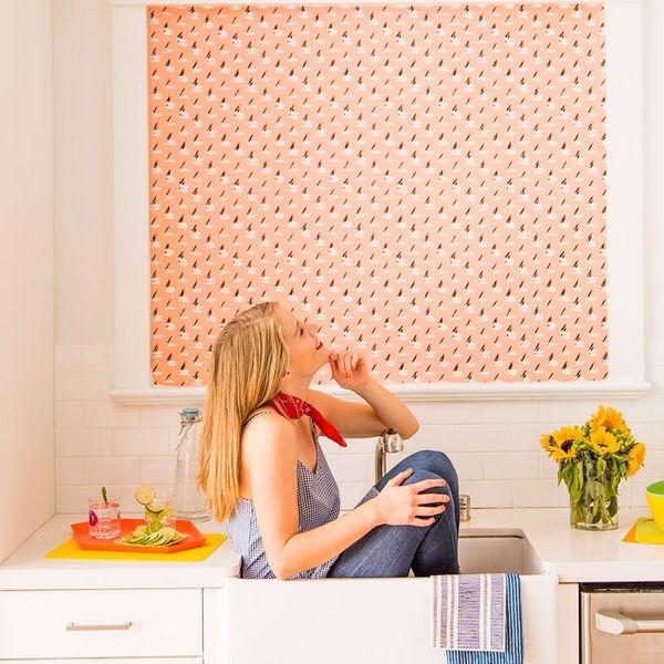 This DIY Fabric Wallpaper Is a Renter's Best Friend