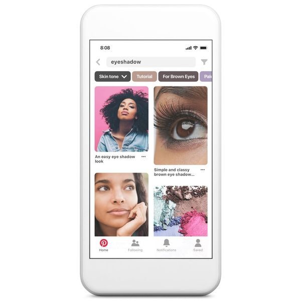 Pinterest's Newest Feature Lets You Search Beauty Inspo by Skin Tone