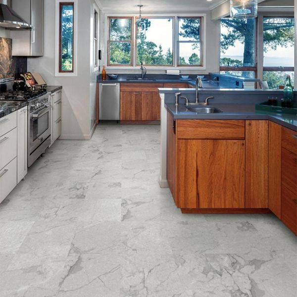 Marble Peel & Stick Flooring Is the Answer to Your Low-Budget Reno Dreams