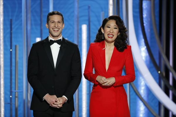 Sandra Oh and Andy Samberg's 2019 Golden Globes Opening Was So Wholesome