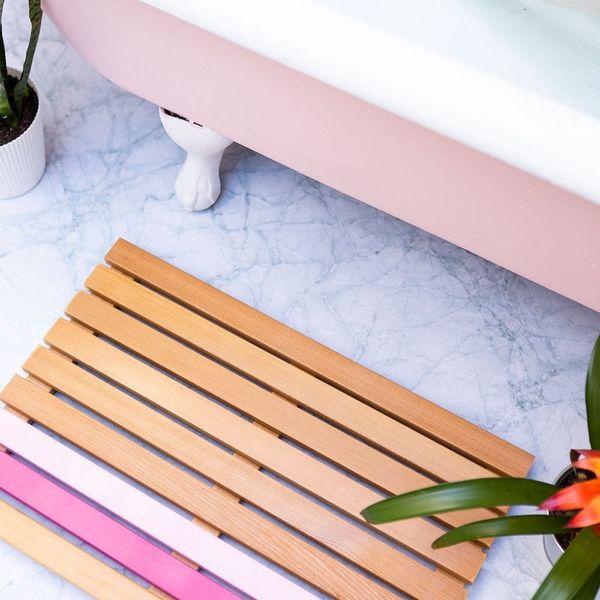 This DIY Cedar Bath Mat Will Upgrade Every Spring Shower