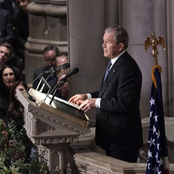 Please Stop Talking About How George W. Bush Cried at His Father's Funeral