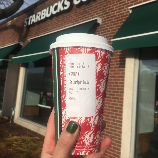 We Tried the New Starbucks Juniper Latte — and It Lit Us Up Like a Christmas Tree