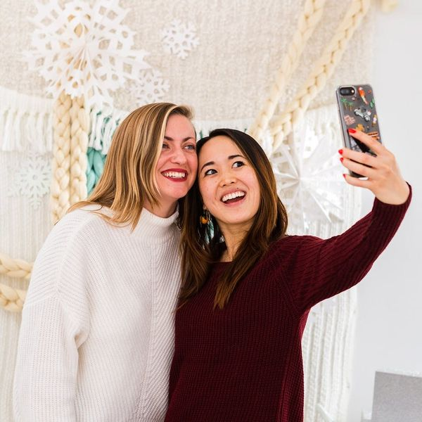 Stay Cozy This Winter With a DIY Sweater Photo Booth