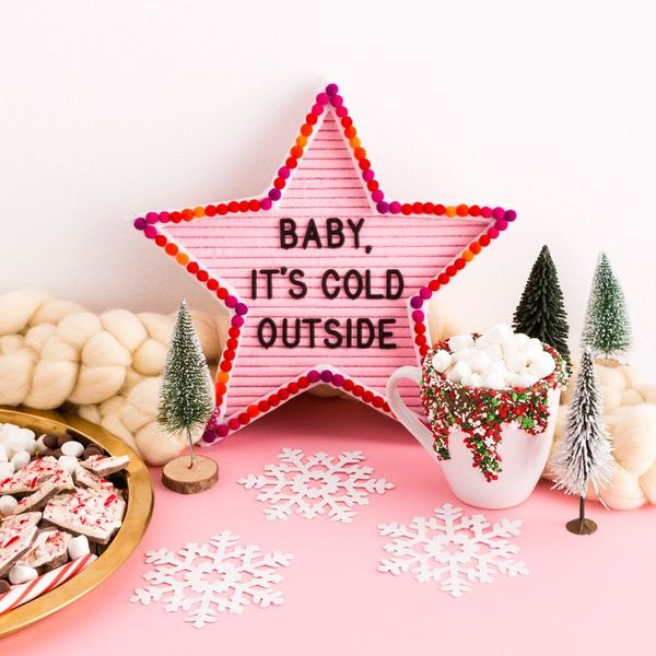 Shine Bright This Season With a Star-Shaped Letter Board DIY