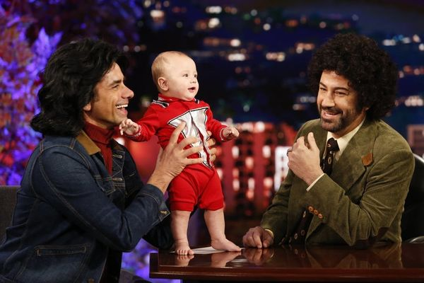 John Stamos' Son Billy Made the Cutest TV Debut — in a Halloween Costume! — on 'Jimmy Kimmel Live!'