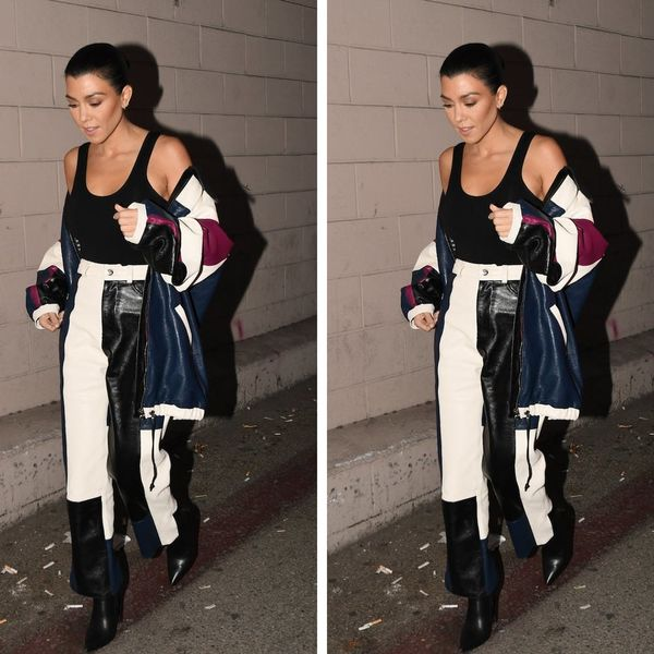 Kourtney Kardashian's Non-Basic Leather Jacket Is Cold Weather #Goals