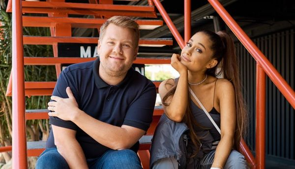 Ariana Grandeand James Corden Freaking Out ina Haunted Escape Room Is the Perfect Halloween Treat