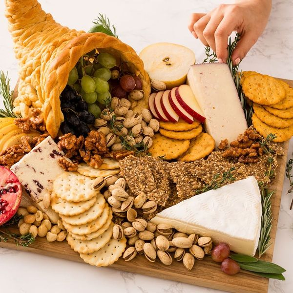 Upgrade Your Thanksgiving Cheese Plate With a Crescent-Roll Cornucopia
