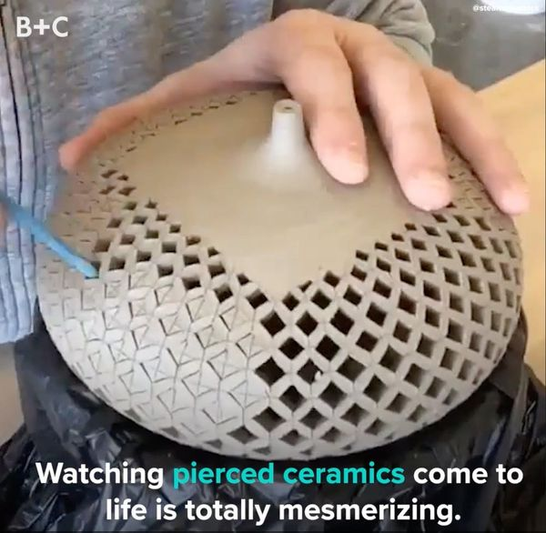 Watching Pierced Ceramics Come to Life Is Totally Mesmerizing