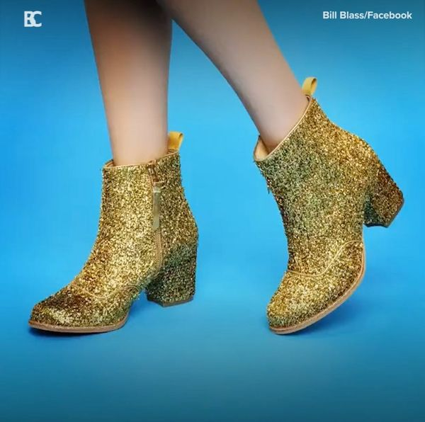 Proof That Glitter Boots Are the Shoe of the Season