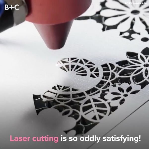 Laser Cutting Is the Coolest Thing You'll See All Day