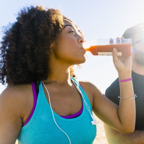 Woman drinking a sports drink
