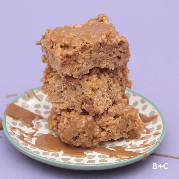 How to Make Cookie Butter Rice Krispie Treats