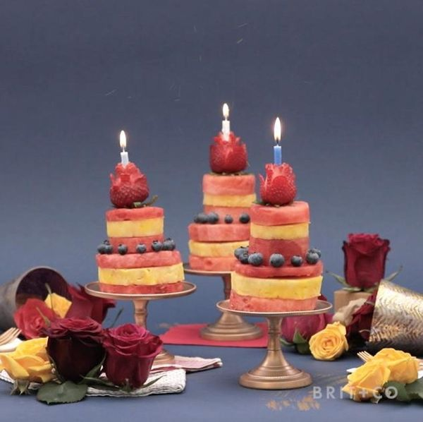 Candelabra Fruit Cake