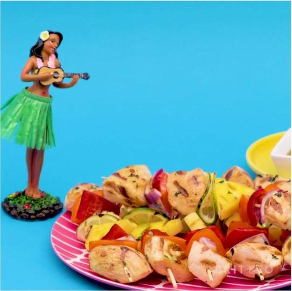 Hawaiian Luau Kebabs