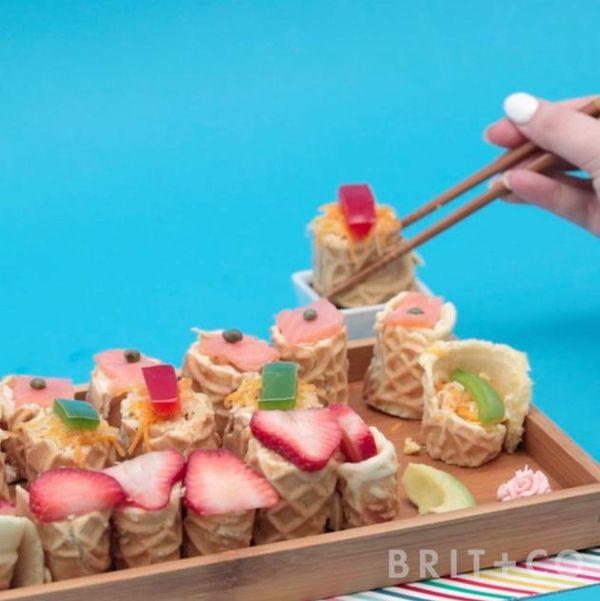 How to Make Breakfast Sushi