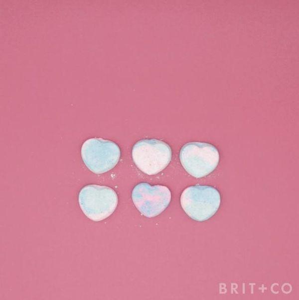 How to DIY Heart Shaped Bath Bombs