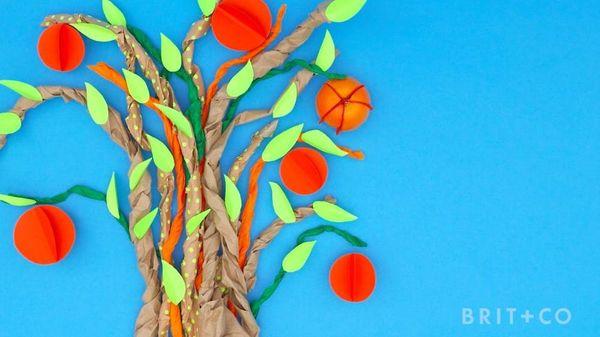 Make This DIY Paper Orange Tree For Major Eye Candy