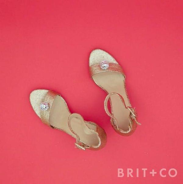 How to DIY Glitter Heels