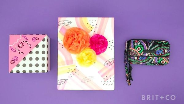 DIY: Hand Painted Gift Wrap