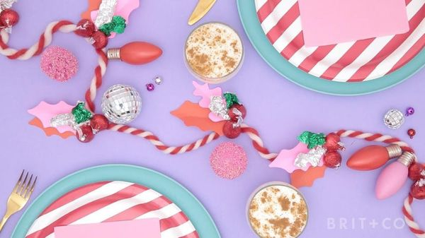 How to DIY A Holly Kiss Garland