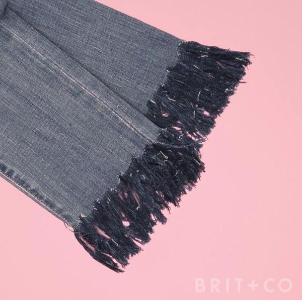 How To DIY Fringed Jeans