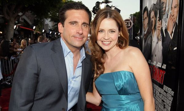 Steve Carell and Jenna Fischer Had the Best Surprise 'Office' Reunion on 'Busy Tonight'