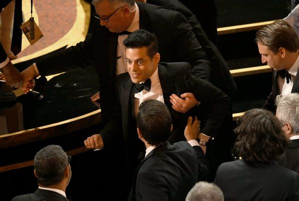 Rami Malek Fell off the Stage After Winning His Oscar and Was Treated By Paramedics