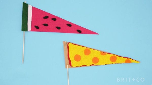 How to DIY Felt Snack Flags
