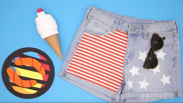 How to Make Star Spangled Shorts