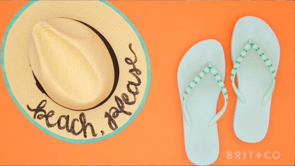 How to DIY a Painted Beach Hat