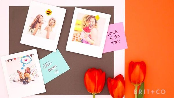 How to Make Embroidered Photo Magnets