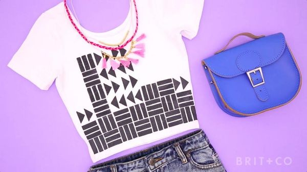 How to Make a Hand-Stamped Crop Top