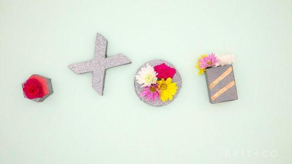 How to Make Decorative Mini Planters
