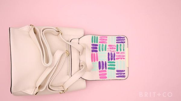 How to DIY a Painted Backpack