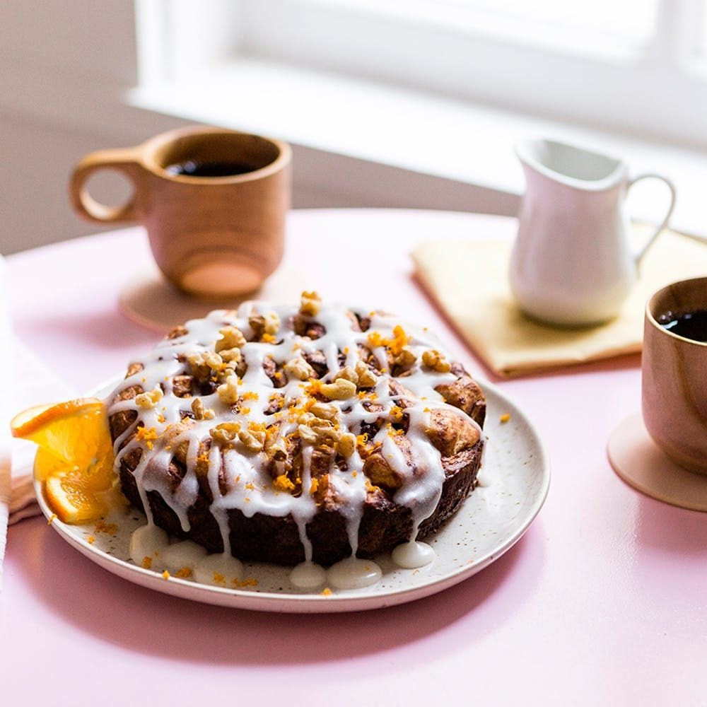 Slow Cook Your Way To A Decadent Vegan Cinnamon Roll Casserole Brit Co