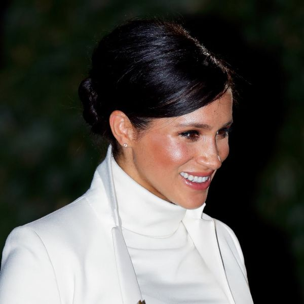 Meghan Markle's LatestHairstyle Is All About '60s Volume and a Side-Swept Part