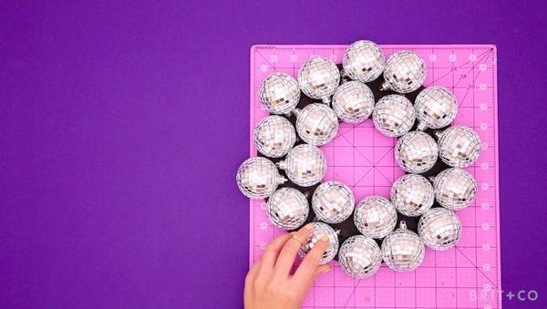 How to Make a Disco Ball Wreath