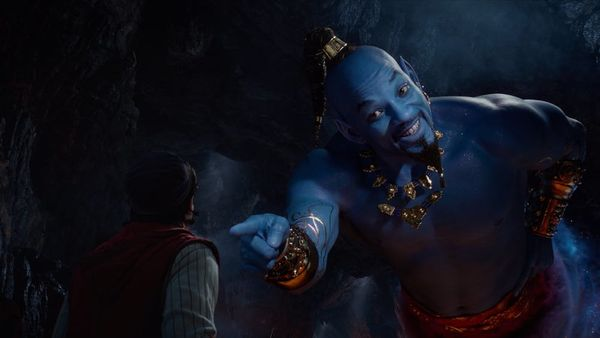 People Can't Get Over Will Smith's Blue Genie in the New 'Aladdin' Teaser