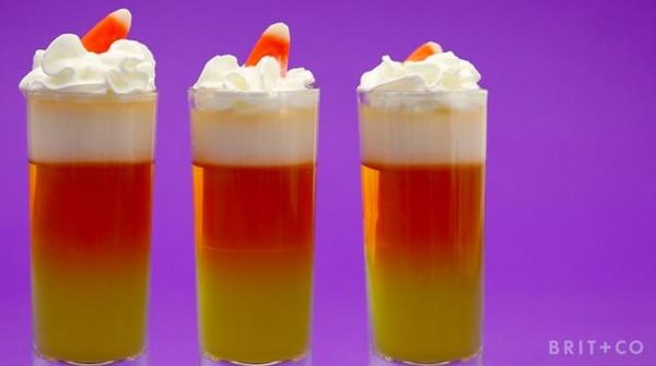 How to Make Candy Corn Jello Shots