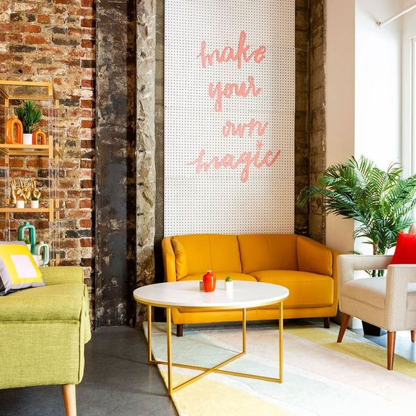 Check Out Our Colorful Mid-Century Modern Office Makeover