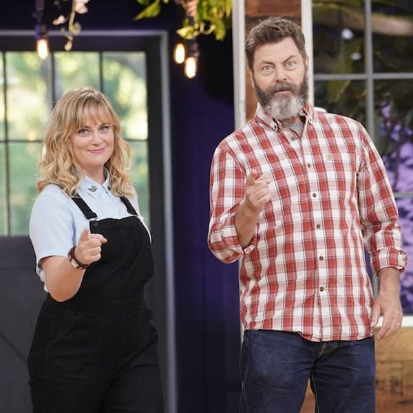 A Look Behind the Scenes of Amy Poehler and Nick Offerman's New Show 'Making It'