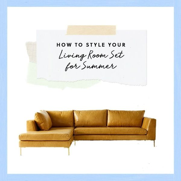 How to Style Your Living Room Set for Summer