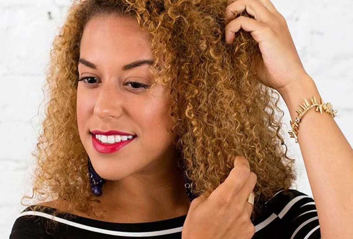 How To Style A Mini Mohawk Braid On Curly Hair Brit Co