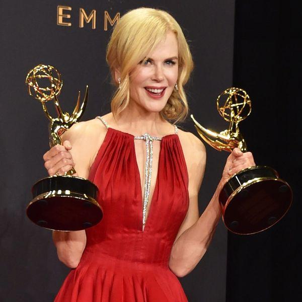 Nicole Kidman Gets Flustered Talking About Kissing Alexander Skarsgård at the Emmys