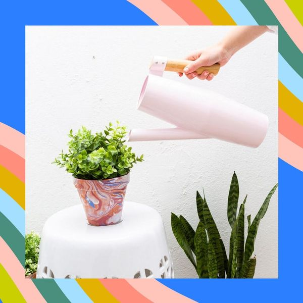 How to Create DIY Marbled Planters With Nail Polish